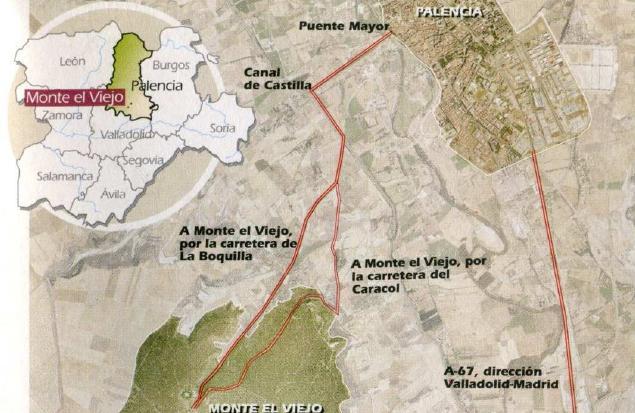 Croquis acceso a Monte El Viejo