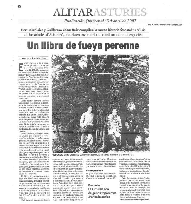 GUIA ÁRBOLES EN ALITARASTURIES