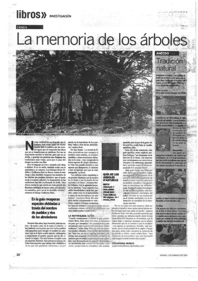 GUIA ÁRBOLES EN LA VOZ DE ASTURIAS