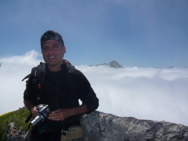 Guillermo desde el Mirador de Ordiales, Picos de Europa