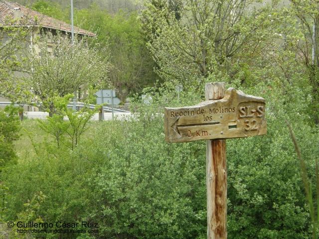 Señal de la ruta desde Bárcena de Ebro
