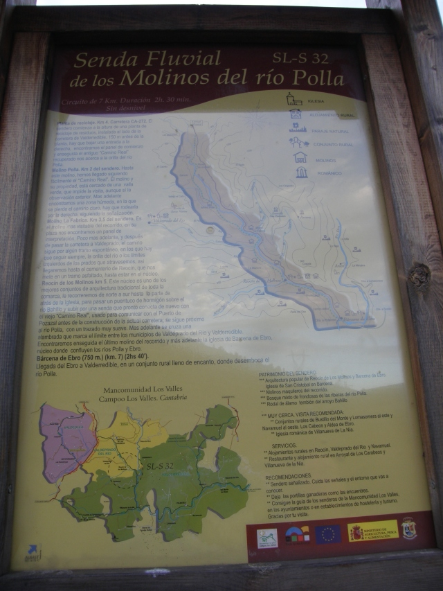 Panel informativo de la ruta
