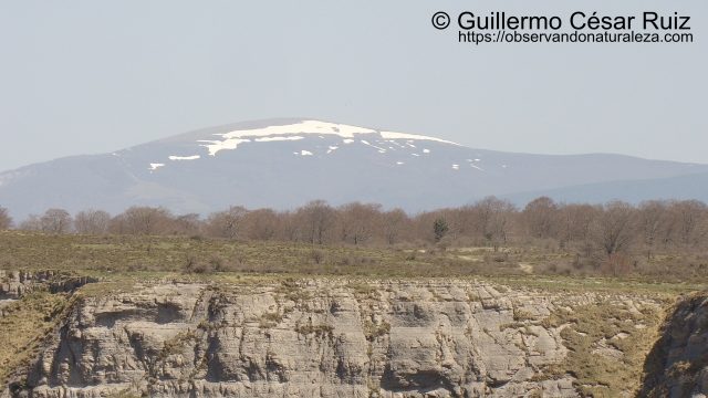 Monte Gorbeia desde Mirador Salto del Nervión