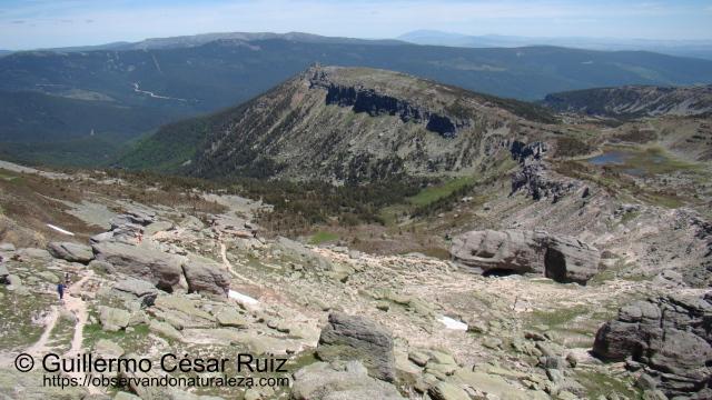 Pico Zurraquín y Laguna Larga desde cima Pico Urbión