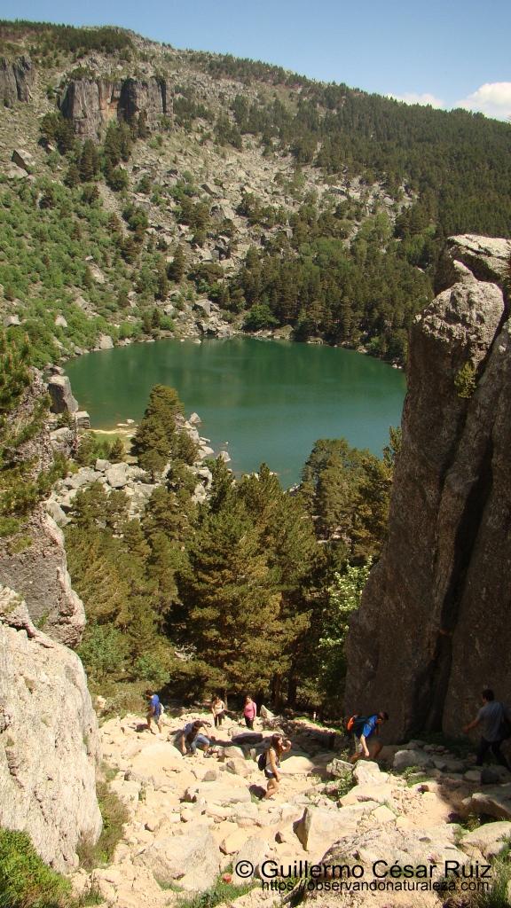 Senda del Portillo II, ascensión por la canal desde Laguna Negra, Soria