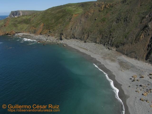 Playa El Cuerno o Les Melleres, Verdicio (Gozón-Asturias)