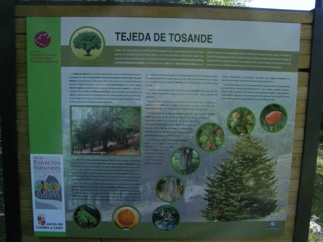 Panel informativo Tejeda de Tosande