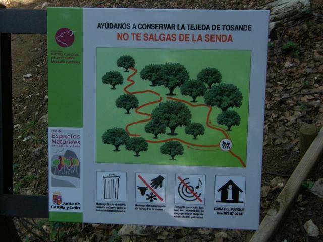 Señal vertical advertencia ayuda conservación Tejeda de Tosande