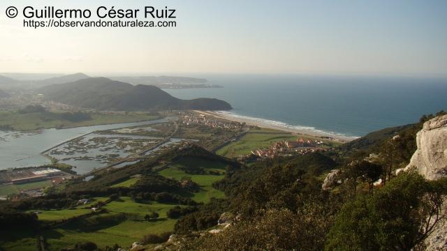 Cumbre del Buciero. Vistas a Berria, Argoños, Penal El Dueso, Playa de Berria, Montes de Mijedo, Noja, Cabos de Quejo y Ajo