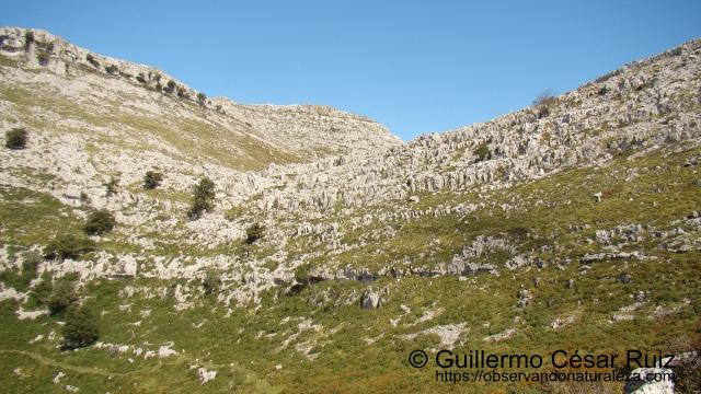 Hoya Corteguera, cruce de caminos, ascensión al Collado de Tueros, paso entre Llandesabú y Tueros