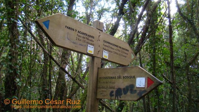 Señalización sendas Monte Buciero, Santoña