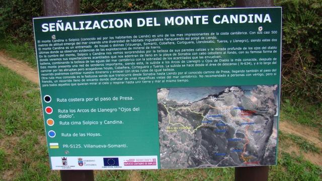 Señalizacion sendas Monte Candina