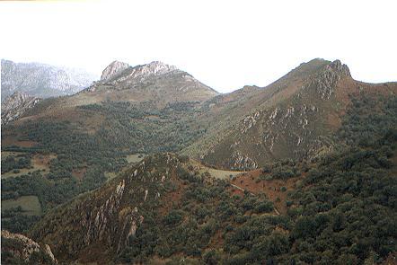 Collada de La Rebollosa, vistas a El Colladin, Picu Gorrión y Peñas de Toriezu